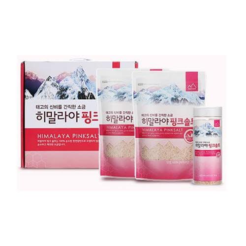 [성미유통] 솔트산 히말라야 핑크솔트 3종세트